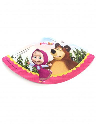 6 cappellini di carta con Masha e Orso™-1