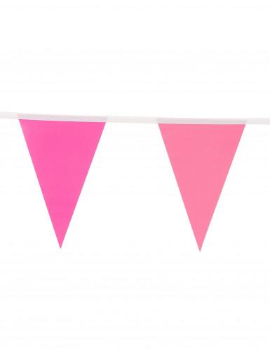 Ghirlanda di bandierine rosa 2 metri-1