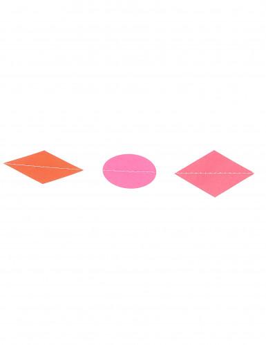Mini ghirlanda con piccole forme geometriche multicolore da 3 metri di lunghezza-1