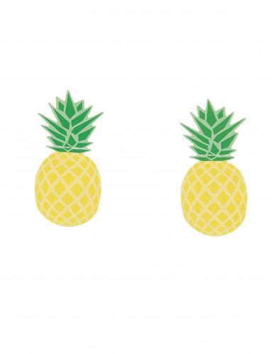 Ghirlanda 3 m piccoli ananas gialli e verdi-1