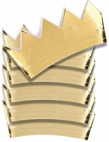 6 Corone dorate di cartoncino