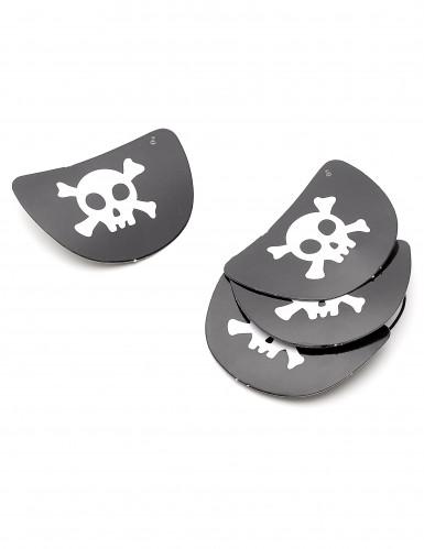 4 copriocchio in cartone da pirata