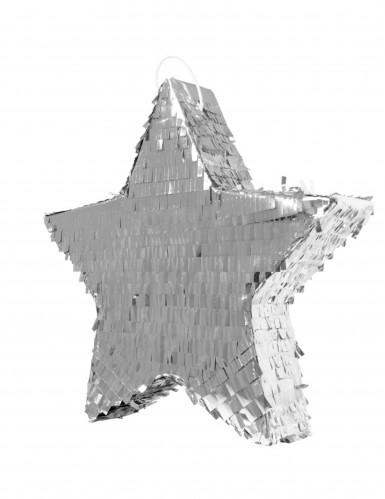 Pignatta a forma di stella argentata