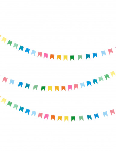 Ghirlanda di bandierine multicolori in cartoncino