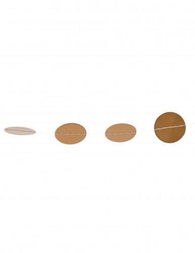Ghirlanda di piccoli pois color oro da 3 metri-1