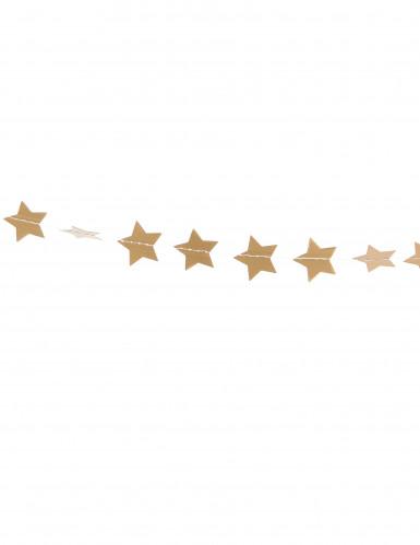 Ghirlanda con piccole stelle dorate da appendere-1