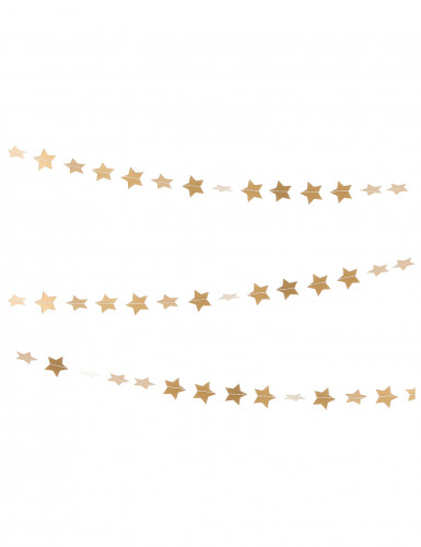 Ghirlanda con piccole stelle dorate da appendere