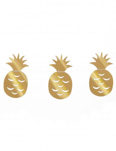 Ghirlanda piccolo ananas colore oro 3 m-1