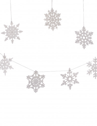 8 fiocchi di neve argentati diametro 15 cm