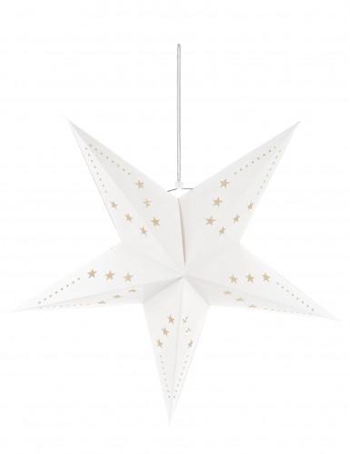 Decorazione da appendere a forma di stella bianca