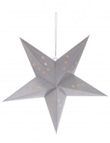 Lanterna di cartone a forma di stella grigia