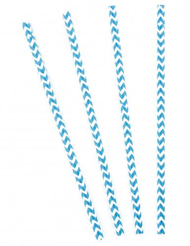 10 cannucce motivo a zig zag bianco e blu