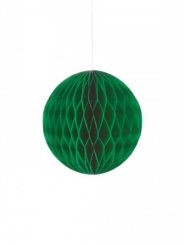 Mini palla in carta alveolata verde scuro 12cm