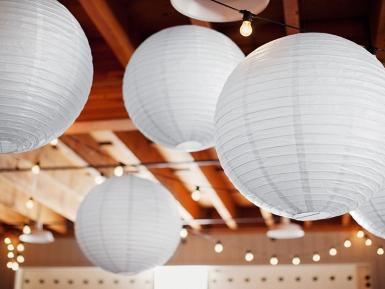 Lanterna giapponese bianca 25 cm-1