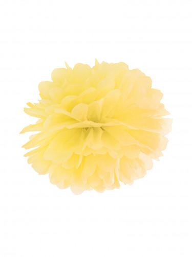 Pompon da appendere in carta gialla 25 cm