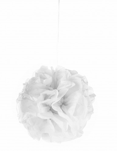 Ponpon di carta bianco 25 cm