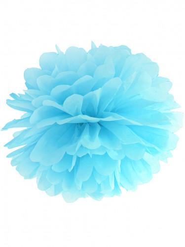 Pompon da appendere di carta azzurro cielo da 35 cm