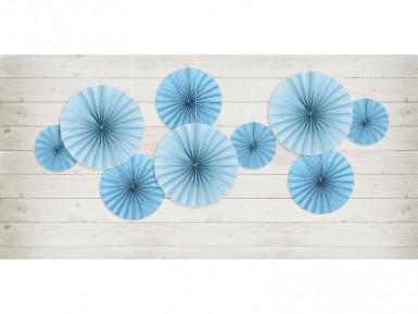 3 ventagli blu di carta-1