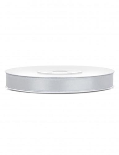 Nastro di raso color argento largo 6 mm e lungo 25 metri