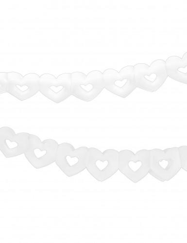 Ghirlanda di carta cuori bianchi