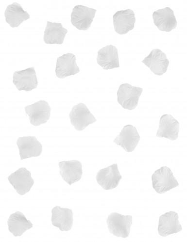 100 petali di rosa in tessuto bianco-1