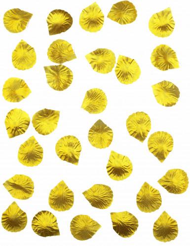 100 petali in tessuto dorato-1