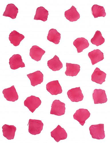 100 petali di tessuto color fucsia-1
