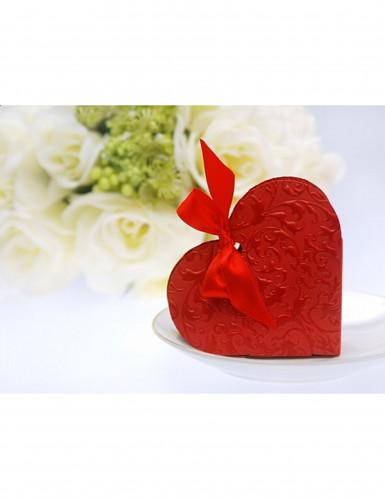 10 scatole di confetti a forma di cuore rosso-1