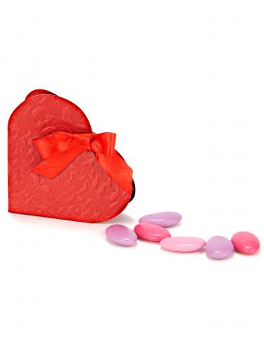 10 scatole di confetti a forma di cuore rosso-2