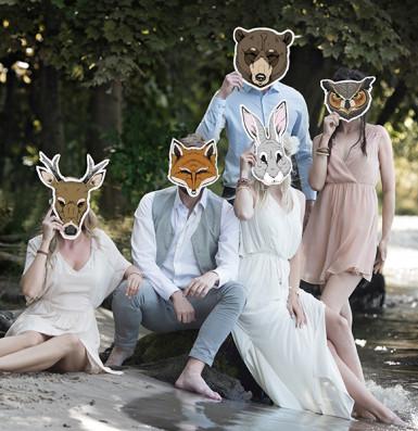 Maschera da volpe di carta-2