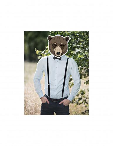Maschera da orso in carta per adulto-1