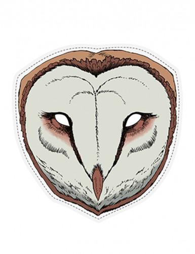 Maschera in carta da civetta