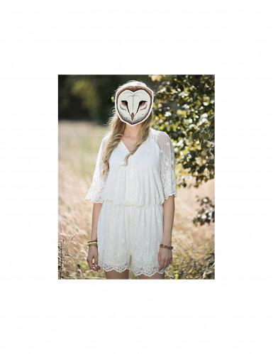 Maschera in carta da civetta-1