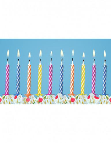 Confezione di 10 candele colorate-1