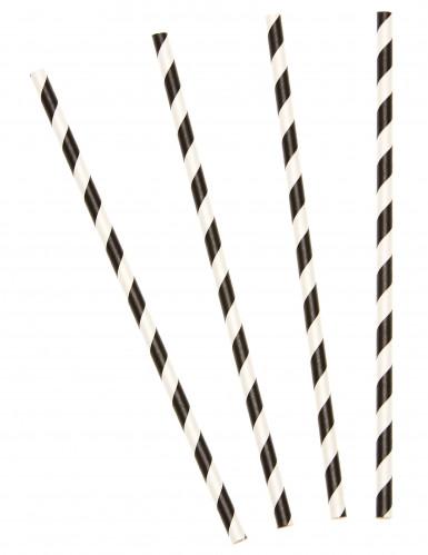 10 Cannucce a strisce nere