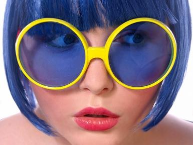 Occhiali disco per adulti-2