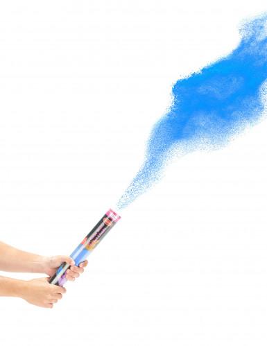 Cannone spara polvere blu