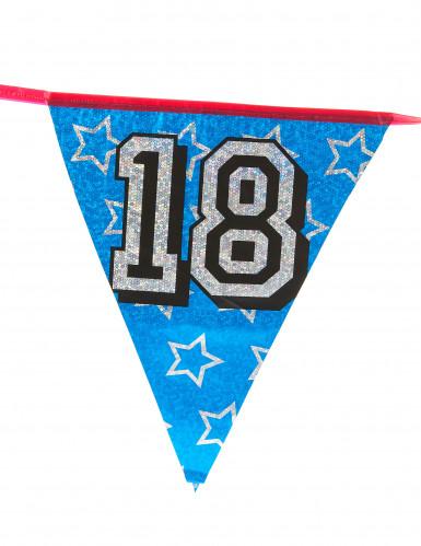 Ghirlanda di bandierine serigrafate con il numero 18-1