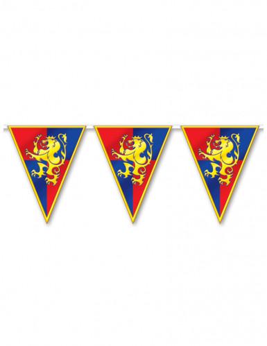 Ghirlanda realizzata con bandierine medievali