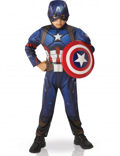 Costume deluxe per bambino da Capitan America™