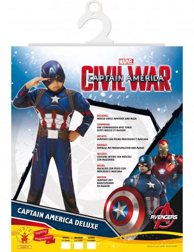 Costume deluxe per bambino da Capitan America™-1