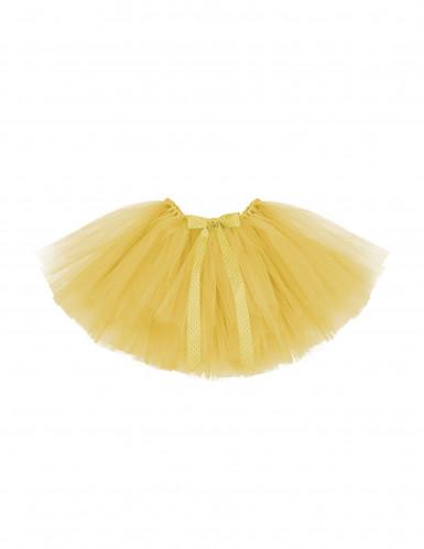 Tutù per bambina adattabile colore giallo