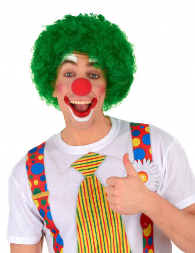 Parrucca da clown per adulto verde-1