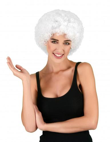 Parrucca bianca per adulto in stile afro/clown