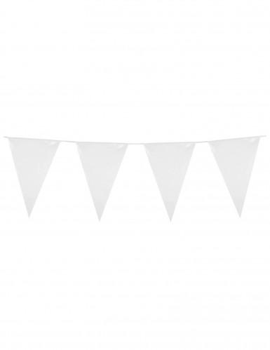 1 ghirlanda di bandierine bianche plastica