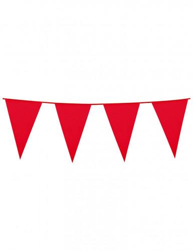 Festone con bandierine rosse 10 m