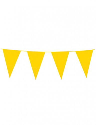 Ghirlanda in plastica con bandierine gialle