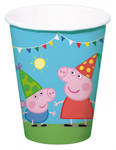 Confezione 8 bicchieri di carta Peppa Pig™