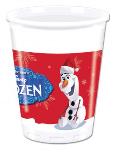 Confezione di 8 Bicchieri Olaf Christmas di plastica