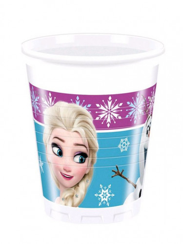 8 bicchieri di plastica raffiguranti Frozen™